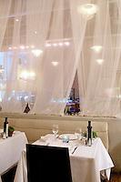 white tablecloth Milos Restaurant New York City