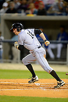 Jacksonville Suns outfielder Michael Main #16 during a game against the Pensacola Blue Wahoos on April 15, 2013 at Pensacola Bayfront Stadium in Pensacola, Florida.  Jacksonville defeated Pensacola 1-0 in 11 innings.  (Mike Janes/Four Seam Images)