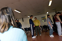 South America, Argentina, Almirante Brown, Adrogue, Evangelism - Evangelical HIV/AIDS support group located in the Doctor Arturo Onativia Hospital in Adrogue. The group helps its participants spiritually and empathetically, July 2006, ©Stephen Blake Farrington<br />