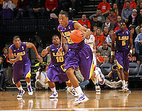 Jan. 2, 2011; Charlottesville, VA, USA; LSU Tigers guard Ralston Turner (22) steals the ball during the game against the LSU Tigers at the John Paul Jones Arena. Mandatory Credit: Andrew Shurtleff-