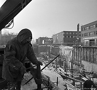 Construction de la station de métro Berri-de-Montigny. 19 janvier 1965.