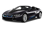 2019 BMW i8 Base 2 Door Convertible angular front stock photos of front three quarter view