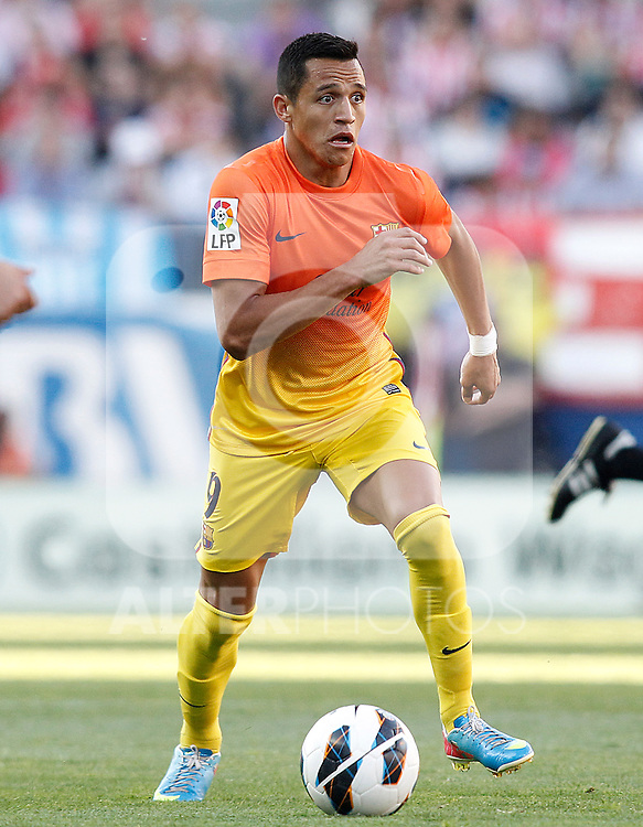 FC Barcelona's Alexis Sanchez during La Liga match.May 12,2013. (ALTERPHOTOS/Acero)