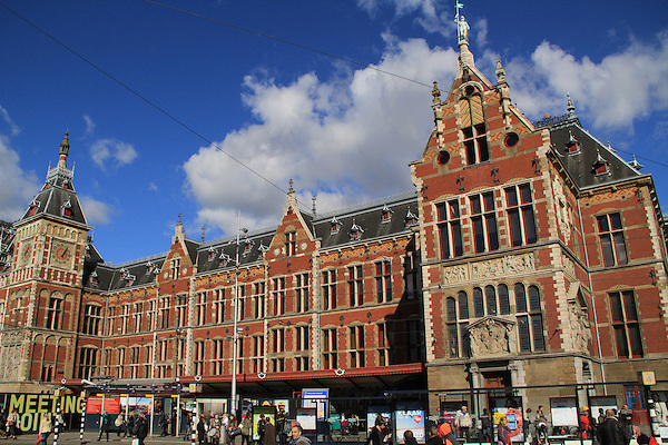 Centraal Station, train station, Amsterdam, Netherlands