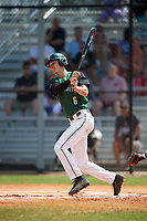 Dartmouth Big Green second baseman Dustin Shirley (6) at bat during a game against the Southern Maine Huskies on March 23, 2017 at Lake Myrtle Park in Auburndale, Florida.  Dartmouth defeated Southern Maine 9-1.  (Mike Janes/Four Seam Images)