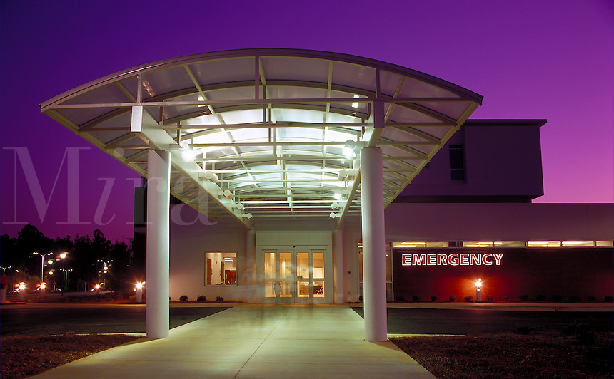 Hospital emergency room entrance, exterior 2, Cumming, GA, near Atlanta. Cumming, Georgia.