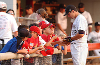 24 August 2004: Joey Votto (22) of the Potomac Cannons, Class A affiliate of the Cincinnati Reds, taken at Pfitzner Stadium, Woodbridge, Virginia. (Tom Priddy/Four Seam Images)