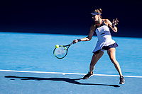 13th February 2021, Melbourne, Victoria, Australia; Belinda Bencic of Switzerland returns the ball during round 3 of the 2021 Australian Open on February 13 2020, at Melbourne Park in Melbourne, Australia.