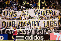 LA Galaxy supporters believe. Real Salt Lake defeated the LA Galaxy 2-0 at Home Depot Center stadium in Carson, California on Saturday June 13, 2009.   .