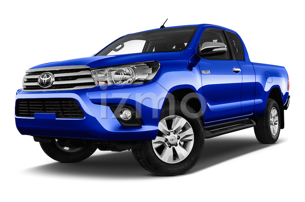 Stock pictures of low aggressive front three quarter view of 2017 Toyota Hilux Comfort 2 Door Pickup Low Aggressive