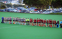 North Harbour 1 v Canterbury 2. 2021 National Women's Under-18 Hockey Tournament day two at National Hockey Stadium in Wellington, New Zealand on Monday, 12 July 2021. Photo: Dave Lintott / lintottphoto.co.nz https://bwmedia.photoshelter.com/gallery-collection/Under-18-Hockey-Nationals-2021/C0000T49v1kln8qk