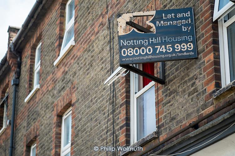 Shabby buy-to-let property, Hammersmith & Fulham, London.