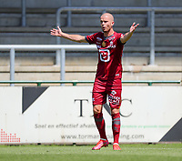 Geoffry Hairemans (7) of KV Mechelen objects during a friendly soccer game between KV Mechelen and the Greek Volos NFC during the preparations for the 2021-2022 season , on saturday 17 of July 2021 in GEEL , Belgium . PHOTO SEVIL OKTEM | SPORTPIX