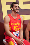 Pau Ribas during the official presentation of Spain´s basketball team for the 2014 Spain Basketball Championship in Madrid, Spain. July 24, 2014. (ALTERPHOTOS/Victor Blanco)