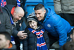 Rangers v St Johnstone…16.12.17…  Ibrox…  SPFL<br />Michael O'Halloran poses for photographs with Rangers fans at Ibrox<br />Picture by Graeme Hart. <br />Copyright Perthshire Picture Agency<br />Tel: 01738 623350  Mobile: 07990 594431