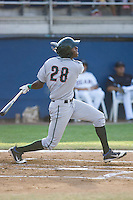 Trey Martin #28 of the Boise Hawks at bat during a game against the Yakima Bears at Yakima County Stadium on August 19, 2012 in Yakima, WA.  Yakima defeated Boise 4-3.  (Ronnie Allen/Four Seam Images)