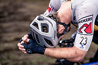 Daan Soete (BEL/Hens Maes Containers) post-race. <br /> <br /> Koppenbergcross 2020 (BEL)<br /> men's race<br /> <br /> ©kramon