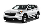 2018 KIA Niro FE 5 Door Hatchback Angular Front stock photos of front three quarter view
