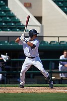 Detroit Tigers Sam McMillan (32) bats during a Florida Instructional League intrasquad game on October 17, 2020 at Joker Marchant Stadium in Lakeland, Florida.  (Mike Janes/Four Seam Images)