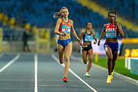 1st May 2021; Silesian Stadium, Chorzow, Poland; World Athletics Relays 2021. Day 1; Femke Bol wins the heat for the Netherlands in the ladies 4 x 400 ahead of Gomez of Cuba