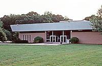 Greenbelt:  New Greenbelt Public Library. Miesian style.  Photo '85.