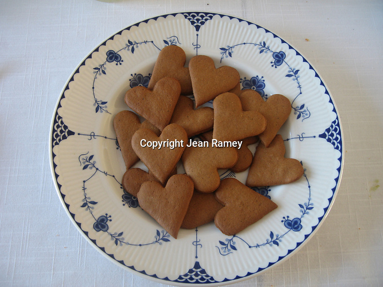 Swedish Pepparkakor Cookies are served during Christmastime