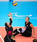 Shacarra Orr, Rio 2016 - Sitting Volleyball // Volleyball assis.<br /> Canada competes against the Netherlands in the Women's Sitting Volleyball Preliminary // Le Canada affronte les Pays-Bas dans le tournoi préliminaire de volleyball assis féminin. 11/09/2016.