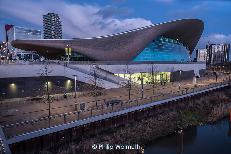 The Zaha Hadid Aquatic Centre, Queen Elizabeth Olympic Park, Stratford.