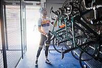 bike storage<br /> <br /> UnoX-Hydrogen Development Team (NOR)<br /> <br /> first team trainingcamp / december 2016