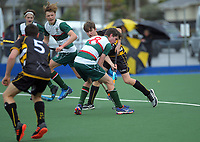 Action from the boys match between St Paul's Collegiate School and Rathkeale College on day three of the 2020 Lower North Island Hockey Premiership tournament at Fitzherbert Park Twin Turfs in Palmerston North, New Zealand on Wednesday, 2 September 2020. Photo: Dave Lintott / lintottphoto.co.nz