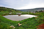 Aqua culture ponds for tilapia in Rwanda.