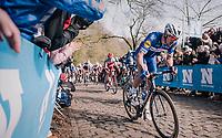 Philippe Gilbert (BEL/Quick Step floors) up the Kemmelberg<br /> <br /> 81st Gent-Wevelgem in Flanders Fields (1.UWT)<br /> Deinze > Wevelgem (251km)