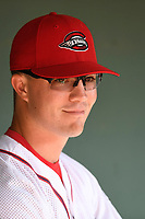 Right fielder Granger Studdard (35) of the Greenville Drive before a game against the Kannapolis Intimidators on Wednesday, July 12, 2017, at Fluor Field at the West End in Greenville, South Carolina. Greenville won, 12-2. (Tom Priddy/Four Seam Images)
