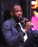 """LOS ANGELES - JANUARY 25: Deontay Wilder attends a Los Angeles press conference on January 25, 2020 for the """"Wilder vs Fury II"""" FOX SPORTS PPV & ESPN+ PPV which will take place on Feb. 22 from the MGM Grand Garden Arena in Las Vegas. (Photo by Frank Micelotta/Fox Sports/PictureGroup)"""