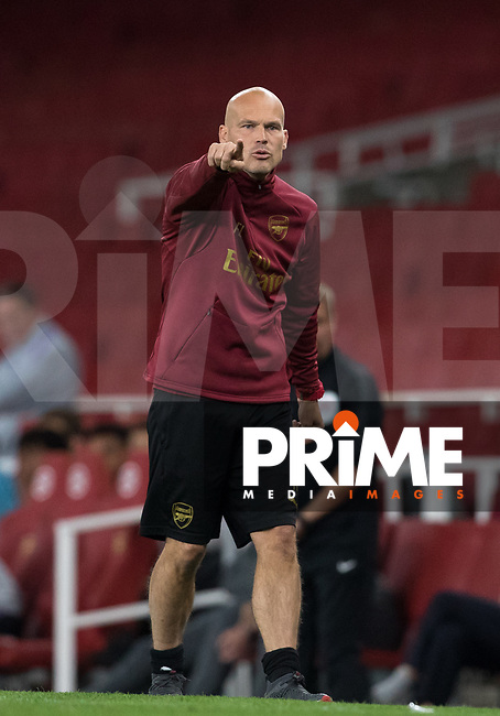 Arsenal U23 Manager Freddie Ljungberg during the Premier League 2 match between Arsenal U23 and Tottenham Hotspur U23 at the Emirates Stadium, London, England on 31 August 2018. Photo by Andy Rowland.
