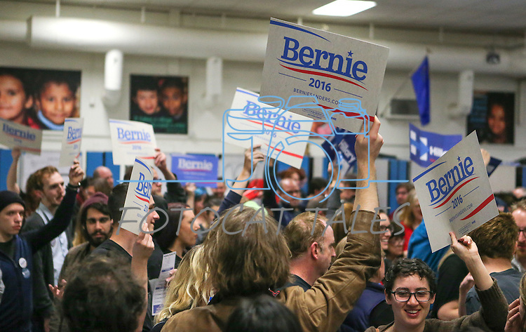 A strong showing of Bernie Sanders supporters rally at the Democratic Caucus at Libby Booth Elementary School, in Reno, Nev. on Saturday, Feb. 20, 2016. Cathleen Allison/Las Vegas Review-Journal