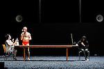 PENTHESILEES<br /> <br /> Chorégraphie Catherine Diverrès<br /> Scénographie Laurent Peduzzi<br /> Musique Jean-Luc Guionnet, Seijiro Murayama<br /> Lumières Marie-Christine Soma<br /> Costumes Cidalia Da Costa assistée de Claude Gorophal et Anne Yarmola<br /> Avec Alessandro Bernardeschi, Francesca Mattavelli, Capucine Goust, Akiko Hasegawa, Pilar Andres Contreras, Thierry Micouin, Rafael Pardillo, Tamara Stuart-Ewing, Emilio Urbina Medina<br /> Compagnie Catherine Diverrès / association d'Octobre<br /> Date  : Le 02/04/2014<br /> Lieu : Théâtre de Chaillot<br /> Ville : Paris<br /> © Laurent Paillier / photosdedanse.com