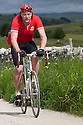 01/05/16<br /> <br /> File photo showing retro cyclist wearing classic cycling shoes on the Eroica ride near Bakewell last June.<br /> <br /> Fuelled by a growing trend for vintage cycling, England's last remaining heavy duty boot-maker, tucked away in the heart of the Derbyshire Peak District, is pedalling a new style of footwear.<br /> <br /> Full story here: http://www.fstoppress.com/articles/vintage-cycle-shoes/<br /> <br />  .For hipster retro-cycling enthusiasts after the authentic vintage look, it's the only English manufacturer of leather shoes designed to work with old-fashioned bike pedal clips.<br /> <br /> For well over a century the family-run firm William Lennon and Co has been hand-making safety boots for the surrounding quarry and lead mining industries.<br /> <br /> And now it is applying the same high level of traditional skill and quality to old-style cycle shoes.<br /> <br /> Located in the small village of Stoney Middleton, the company produces more than 500 pairs of work boots a week and started to make the toe-clip cycle shoes around seven years ago, when the only other manufacturer in Leeds shut down.<br /> <br /> <br /> All Rights Reserved: F Stop Press Ltd. +44(0)1335 418365   www.fstoppress.com.