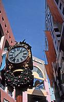 Horton Plaza:  Jessop's Clock.  Photo Jan. 1987.