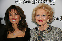 Susan Lucci & Agnes Nixon - All My Children at 40 celebrate on January 10, 2010 at the New York Times Arts & Leisure Weekend at the TimesCenter Stage, New York City, New York. (Photo by Sue Coflin/Max Photos)