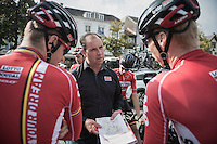 Team Lotto-Soudal DS Bart Leysen at the TTT parcours breefing<br /> <br /> 12th Eneco Tour 2016 (UCI World Tour)<br /> stage 5 (TTT) Sittard-Sittard (20.9km) / The Netherlands