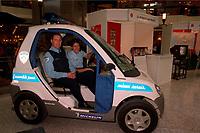 Photo d'archive de la police de Montreal -  prototype de <br /> vehicule electrique<br /> <br /> PHOTO :  AGENCE QUEBEC PRESSE