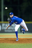 Burlington Royals pitcher Joseph Markus (27) in action against the Greeneville Astros at Burlington Athletic Park on August 29, 2015 in Burlington, North Carolina.  The Royals defeated the Astros 3-1. (Brian Westerholt/Four Seam Images)