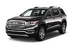 2018 GMC Acadia SLT-1-FWD 5 Door SUV Angular Front stock photos of front three quarter view