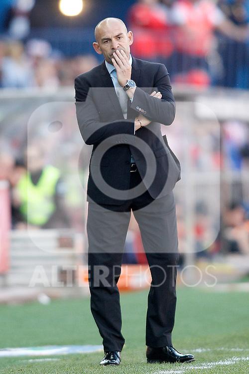 Rayo Vallecano's coach Paco Jemez during La Liga match. April 30,2016. (ALTERPHOTOS/Acero)