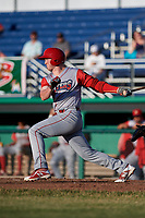 Williamsport Crosscutters left fielder Ben Pelletier (35) grounds out during a game against the Batavia Muckdogs on June 21, 2018 at Dwyer Stadium in Batavia, New York.  Batavia defeated Williamsport 6-5.  (Mike Janes/Four Seam Images)