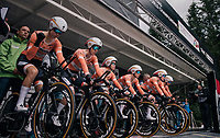 Team Boels-Dolmans on the start ramp<br /> <br /> UCI WOMEN'S TEAM TIME TRIAL<br /> Ötztal to Innsbruck: 54.5 km<br /> <br /> UCI 2018 Road World Championships<br /> Innsbruck - Tirol / Austria