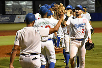 MONTERIA - COLOMBIA, 18-11-2019: Leones de Santa Marta y Vaqueros de Montería en el juego 1 de la serie 3 de la Liga Profesional de Béisbol Colombiano temporada 2019-2020 jugado en el estadio estadio Dieciocho de Junio de la ciudad de Montería. Victoria para Vaqueros por marcador de 7-9. / Leones de Santa Marta y Vaqueros de Monteria in match 1 series 3 as part Colombian Baseball Professional League season 2019-2020 played at Baseball Stadium on June 18 in Monteria city. Victory to Vaqueros by score of 7-9, Photo: VizzorImage / Andres Felipe Lopez / Cont