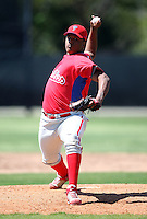 March 30, 2010:  Pitcher Felix Cespedes of the Philadelphia Phillies organization during Spring Training at the Carpenter Complex in Clearwater, FL.  Photo By Mike Janes/Four Seam Images