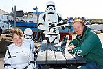 Portmagee's May the 4th be with You festival went on-line this year with talks and virtual events, pictured here catching up with one of the on-line events were l-r; Storm Troopers Aodhán , Siún & Donie Coffey with James Murphy.